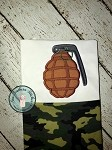 Hand Grenade Applique Design ~ Military ~ Combat ~ Fortnite