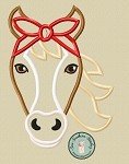 Headband Horse Applique Design ~  Do Rag ~ Bandana