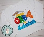 Ofishally ONE Applique Design ~ First Birthday Design