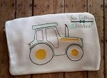 Sketch Stitched Tractor ~ Vintage Stitched ~ Heirloom Stitched ~ Bean Stitched