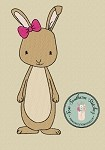 Sketchy Girl Bunny Embroidery Design ~ Easter Bunny