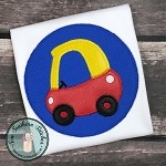 Zig Zag Cozy Coupe Car Applique ~ Circle Applique Design