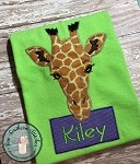 Zig Zag Giraffe Applique Design ~ Zoo Animal