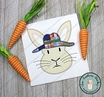 Zig Zag Rabbit Boy Wearing Hat Applique Design ~ Fun Easter Applique